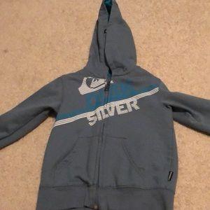 Quiksilver blue hoodie
